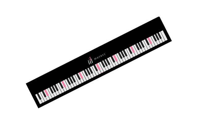 【まらしぃ】 ピアノ88鍵盤実寸大マフラータオル