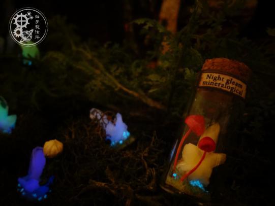 夜燭鉱石標本瓶 きのこ