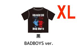 オーイシ×加藤のニコ生☆音楽王 Tシャツ<期間限定・完全受注生産> - ニコ生☆音楽王 Tシャツ BAD BOYS ver.(黒)【XL】