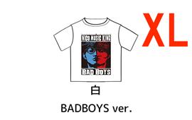 オーイシ×加藤のニコ生☆音楽王 Tシャツ<期間限定・完全受注生産> - ニコ生☆音楽王 Tシャツ BAD BOYS ver.(白)【XL】