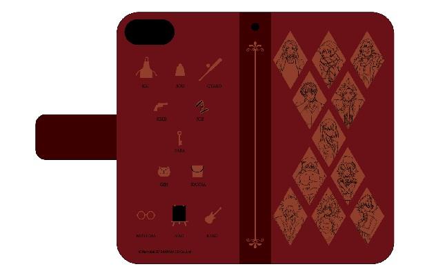 手帳型スマホケース(iPhone6/6s/7/8兼用)「キミガシネ」01/線画デザイン