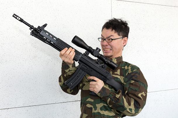 89式小銃風赤外線銃 的・スコープ付き