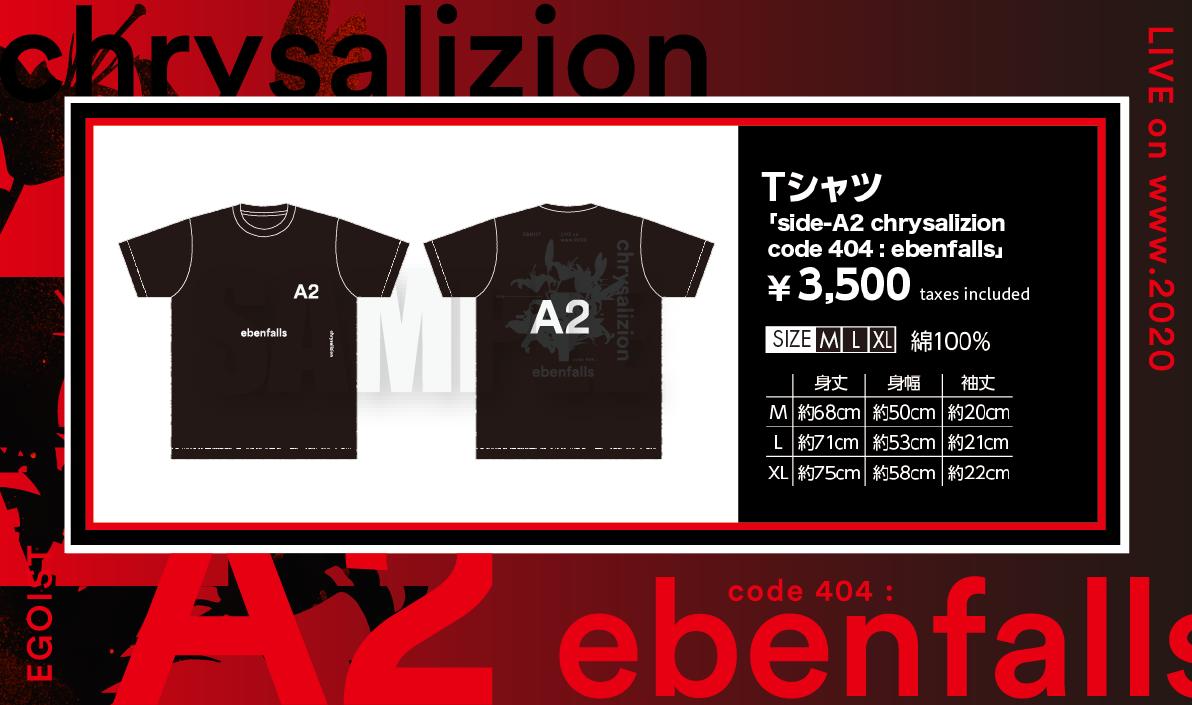 Tシャツ「side-A2 chrysalizion code 404 : ebenfalls」