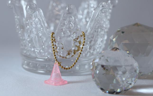 ゆめかわいい三角コーンキーホルダー(ピンク)