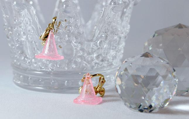 ゆめかわいい三角コーンピアス/イヤリング(ピンク) - ゆめかわいい三角コーンイヤリング(ピンク)